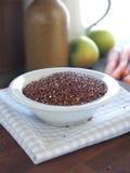 Red quinoa. A gluten-free cereal grain Royalty Free Stock Photos