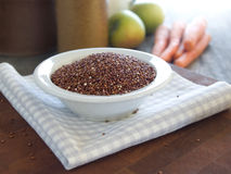 Red quinoa. A gluten-free cereal grain Stock Images