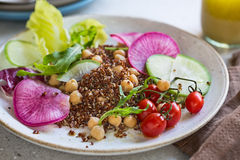 Red Quinoa with Chickpea salad Royalty Free Stock Photos