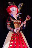 Red qween from. Alice in Wonderland. Theatre performance Dnipropetrovsk, May 2014 stock images