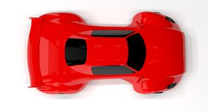 Red race car isolated. Stock Photo
