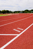 Red race for running. Red race track in an arena,High resolution royalty free stock images