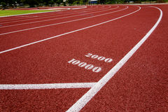 Red race for running. Red race track in an arena,High resolution stock photo