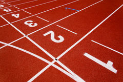 Red race for running. Red race track in an arena,High resolution royalty free stock photo