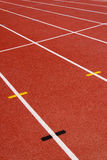 Red race for running. Red race track in an arena,High resolution royalty free stock photography