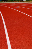 Red race for running. Red race track in an arena,High resolution stock photos