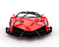 Red race supercar - front view Royalty Free Stock Photography