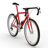Red racing bicycle Stock Photos