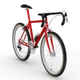 Red racing bicycle Stock Photos