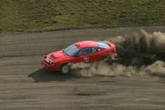 Red racing car royalty free stock photo