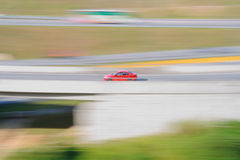 Red Racing Car Royalty Free Stock Photography