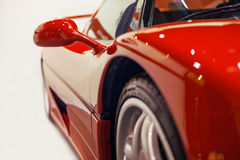 Red retro racing car Royalty Free Stock Images