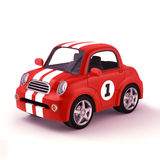 Red racing car Stock Image