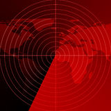 Red radar screen Stock Images