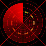 Red radar screen Stock Photography