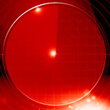 Red radar screen Royalty Free Stock Photography