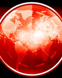 Red radar screen Royalty Free Stock Photos