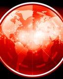 Red radar screen Royalty Free Stock Photos