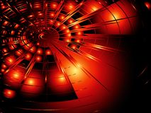 Red radial shape Stock Images