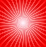 Red radial stripes Stock Photography