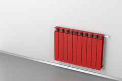 Red radiator Stock Image