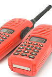 Red radio communication Stock Photos