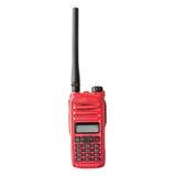 Red radio communication on white background Royalty Free Stock Photos