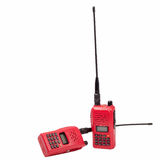 Red radio communication on white background Stock Photos