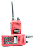 Red radio communication. On white background Royalty Free Stock Photography