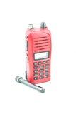Red radio communication Stock Images