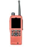 Red radio communication. On white background Stock Photo