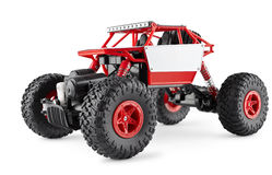 Red radio-controlled SUV Royalty Free Stock Photo