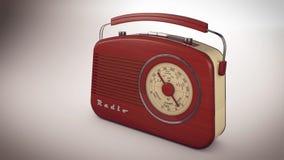 Red Radio receiver Stock Photo