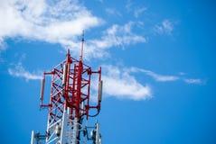 Red radio tower. Stock Photo