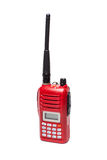Red Radio Transceiver on White background Royalty Free Stock Image