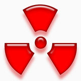 Red radioactive symbol Stock Photography