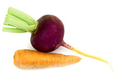 Red radish and carrots Stock Photos