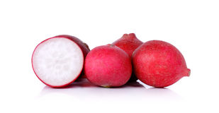 Red radish isolated on a white background Stock Photos