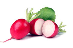 Red radishes stock photos