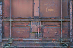 Red Railroad car door Stock Image
