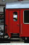 Red railway carriage. The door of a red railway carriage Royalty Free Stock Photo