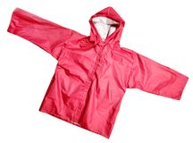Red Raincoat Stock Photography