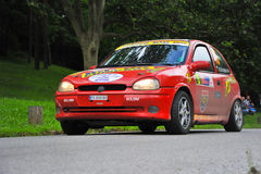 Red rally car Stock Image