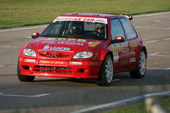 Red rally car Royalty Free Stock Photos