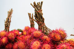 Red Rambutan Stock Photos