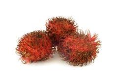Red rambutan fruit Stock Photos
