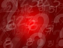 Red random letters background. Design Royalty Free Stock Photo