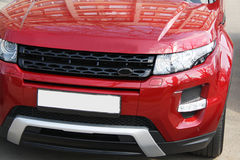 Red range rover evoque Royalty Free Stock Images