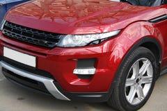 Red range rover evoque Stock Photos