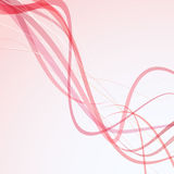 Red rapid wire - abstract background Royalty Free Stock Photo